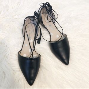 BODEN lace up flats in black size 39.5
